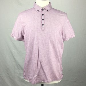 Ted Baker Purple Tomaso Spotted Dot SS Polo Shirt